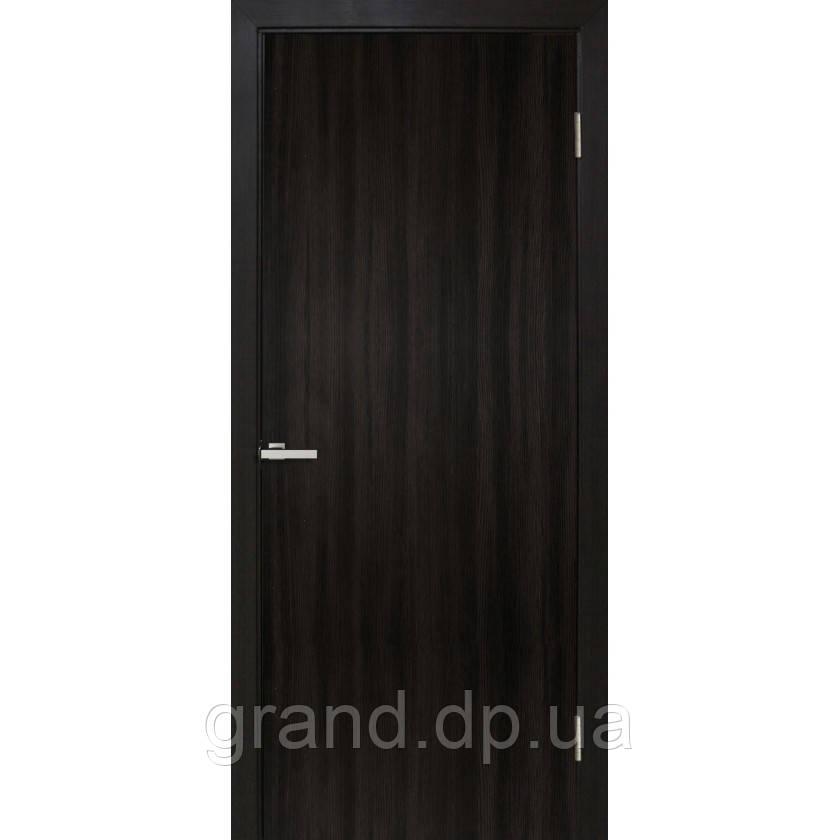 """Дверь межкомнатная """"гладкая глухая экошпон"""" цвет венге"""