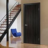 Двери межкомнатные Омис Гладкая глухая экошпон, цвет венге, фото 2