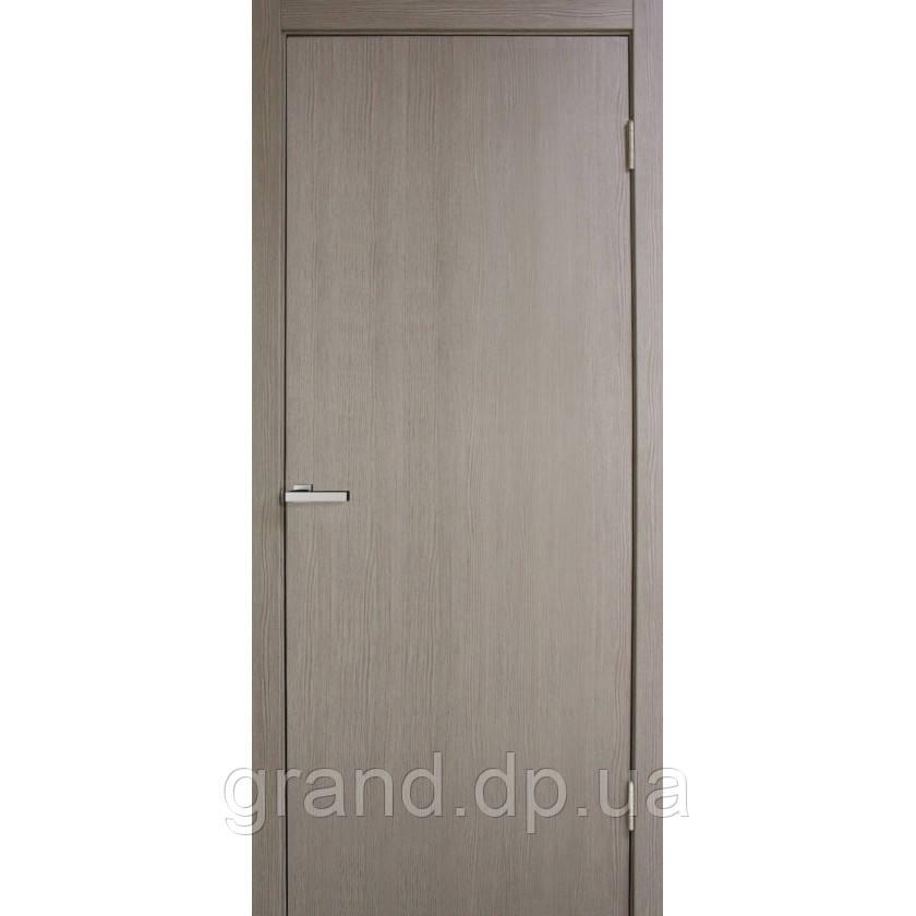 Двери межкомнатные Омис Гладкая глухая экошпон,  цвет сосна мадейра
