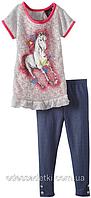 Фирменный летний костюм туника и легинсы на 4,5,6 лет из США