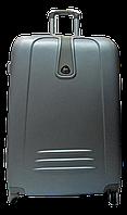 Чемодан дорожный пластик серого цвета размерный ряд Ч23