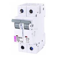 Автоматический выключатель ETIMAT 6 (6кА) 2P 6 А хар-ка B, ETI (Словения)