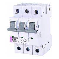 Автоматический выключатель ETIMAT 6 (6кА) 3P 50 А хар-ка C, ETI (Словения)