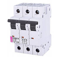 Автоматический выключатель ETIMAT 10 (10кА) 3P 10 А хар-ка C, ETI (Словения)