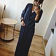 Женское платье двойка +майка. Длинное. Цвета ментол и графит. Ткань трикотаж+вискоза. Размеры SML. YS 372, фото 2