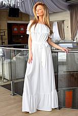 Женское длинное платье на лето в пол с воланами из  полированный шелк. Размеры 42-44, 44-46 VH 8015, фото 3