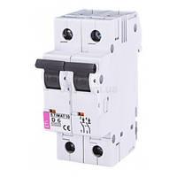 Автоматический выключатель ETIMAT 10 (10кА) 2P 6 А хар-ка D, ETI (Словения)