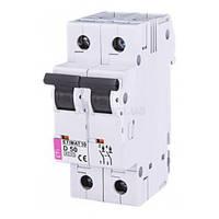 Автоматический выключатель ETIMAT 10 (10кА) 2P 50 А хар-ка D, ETI (Словения)