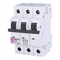 Автоматический выключатель ETIMAT 10 (10кА) 3P 16 А хар-ка D, ETI (Словения)