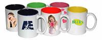 Печать фото и изображений на двухцветных кружках