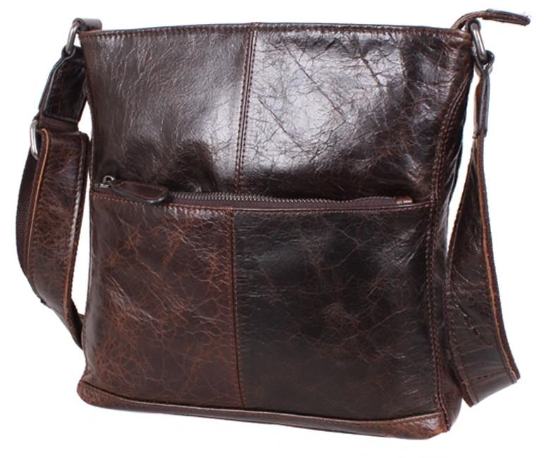 Кожаная мужская сумка LA9017-3DBR коричневый