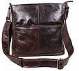 Кожаная мужская сумка LA9017-3DBR коричневый, фото 3