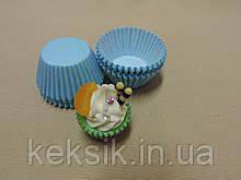 Тарталетки mini цветные 100шт голубые