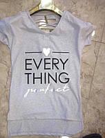 Женская футболка Серый и черный цвет Размеры М  Л  ХЛ  Турция