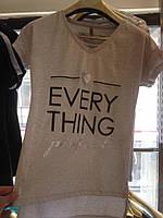 Женская футболка Размеры М  Л  ХЛ Серый и черный цвет