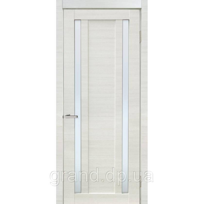 """Дверь межкомнатная """"02 Cortex"""" с матовым стеклом, цвет дуб bianco line"""