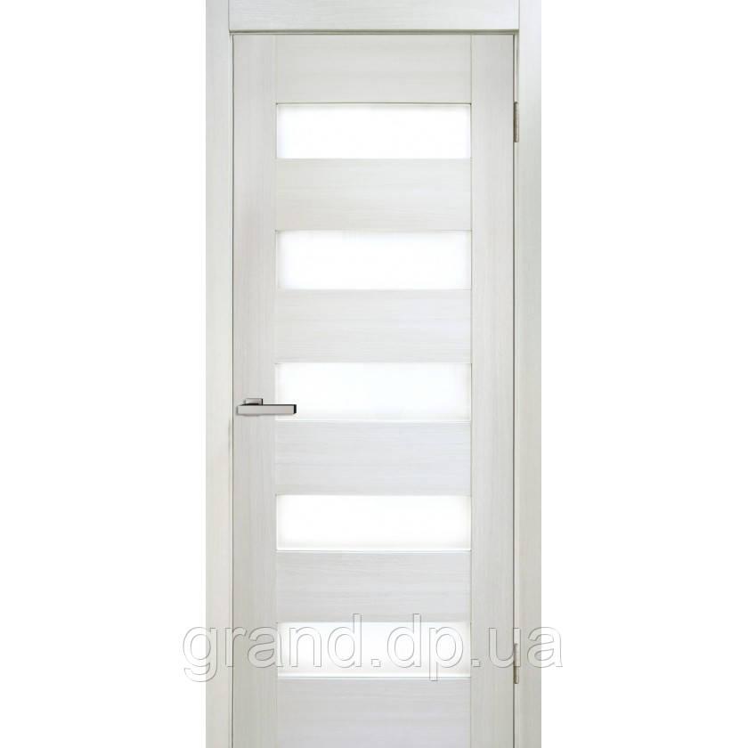 """Дверь межкомнатная """"04  Cortex"""" с матовым стеклом, цвет дуб bianco"""