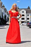 Платье в пол с воланом  вмаг295