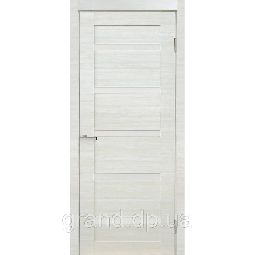 """Дверь межкомнатная  """"07 Cortex"""" с матовым стеклом, цвет дуб bianco line"""