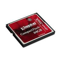 Карта памяти Kingston Compact Flash Ultimate 64GB 266x (CF/64GB-U2)