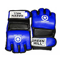 Перчатки для боевого самбо GREEN HILL MMA Cage S синий + сертификат на 50 грн в подарок (код 179-417463)