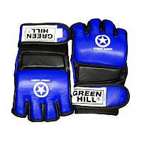 Перчатки для боевого самбо GREEN HILL MMA Cage M синий + сертификат на 50 грн в подарок (код 179-417464)