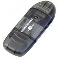 Кардридер STLab USB 2.0 SD/MMC/RS-MMC OTG (U-371) Black