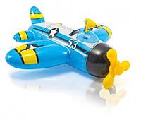 Intex 57537 Плотик надувной Самолет с ручкой и водным пистолетом