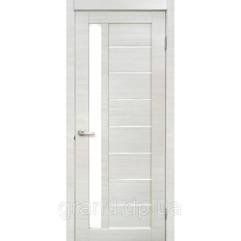 """Дверь межкомнатная  """"09 Cortex"""" с матовым стеклом, цвет дуб bianco line"""