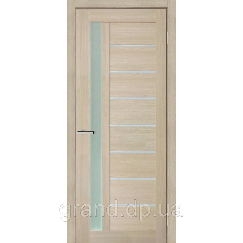 """Дверь межкомнатная """"09 Cortex"""" с матовым стеклом, цвет дуб latte"""