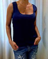 Майка женская шелковая.Размер s,m,l.Ткань шелк армани.TP 6316