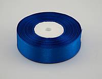 Лента атлас 2.5 см, 33 м, № 40 синяя