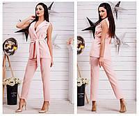 Женский стильный брючный костюм жилет+брюки. Ткань: креп-костюмка. Размер: 42-44, 44-46.