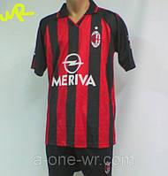 Мужская (р.48-52) футбольная форма без номера ФК ''Милан'' (Милан) - черно-красная, домашняя