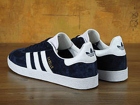 Мужские кроссовки Adidas Gazelle Navy Blue, фото 3