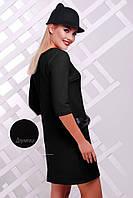 Черное женское платье с бантиками PL-1351A