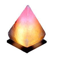 """Светильник соляной Пирамида """"Артёмсоль"""" 5-6 кг с цветной лампочкой"""