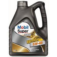 Синтетическое моторное масло Mobil Super 3000 5W-40 4л, фото 1