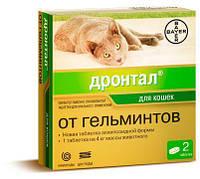 Дронтал (Drontal) таблетки от гельминтов для кошек, 1 таб./4кг, Bayer (Байер)