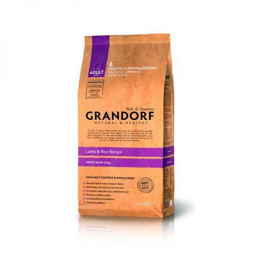 Grandorf Грандорф Ягнёнок с рисом для взрослых собак крупных пород, GRANDORF LAMB & RICE ADULT MAXI, 3 кг, фото 2