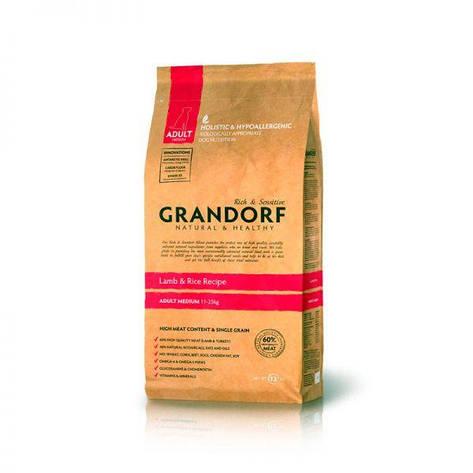 Grandorf Adult Medium Breed, ягненок с рисом для взрослых собак, 1кг, фото 2