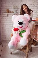 Мишка с ромашкой 140 розовый 0049KM