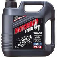 Liqui Moly Racing Synth Cинтетическое моторное масло для 4-тактных мотоциклов 4T 10W-50, 4л (7508)