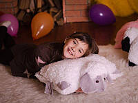 Овечка (игрушка-подушка) серая 0159KM