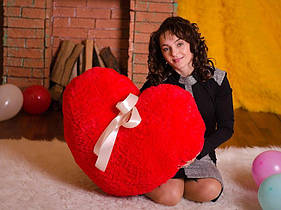Плюшевое Сердце 80 красное (подушка) 0152KM