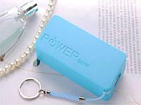 Кейс Power Bank для двох акумуляторів 18650 5000mAh 5V USB  Синій
