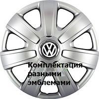 Колпаки гибкие R14 SKS-224 на Volkswagen с логотипом разных авто