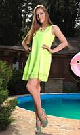 Пляжное платье из шифона салатовое