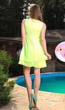 Пляжное платье из шифона салатовое, фото 2