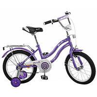Двухколесный велосипед 16 дюймов PROFI L 1693 фиолетовый